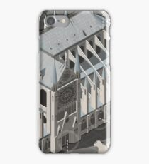 Isometric Infographic Notre Dame de Paris iPhone Case/Skin