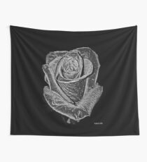 Silver Rose Wall Tapestry