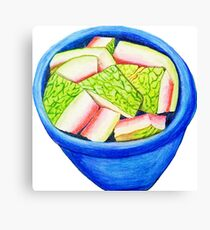 Watermelon Rinds Canvas Print