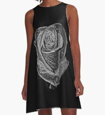 Silver Rose A-Line Dress