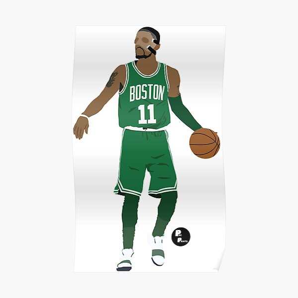 Kyrie Irving Minimalist Art 'Masked Kyrie' // Phone case, t-shirt, stickers and more Poster