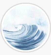 watercolor waves Sticker
