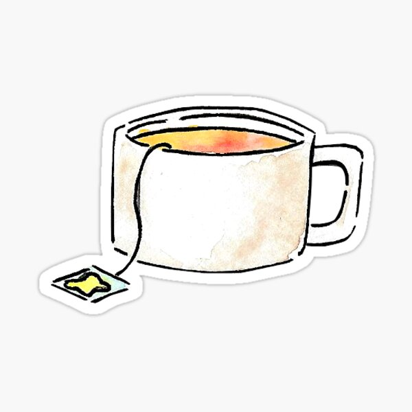 Teacup with Lemon Tea - Sticker Sticker