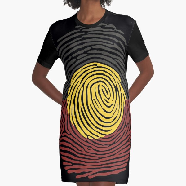 Aboriginal Basic DNA Graphic T-Shirt Dress