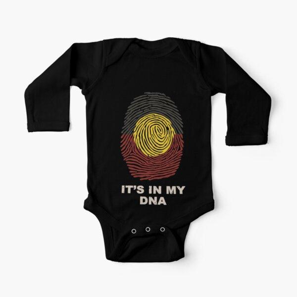 Aboriginal Basic DNA Long Sleeve Baby One-Piece