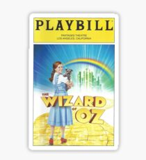 Wizard of Oz Playbill Sticker