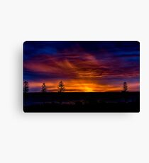 Sunset over the Melbourne Bay Canvas Print