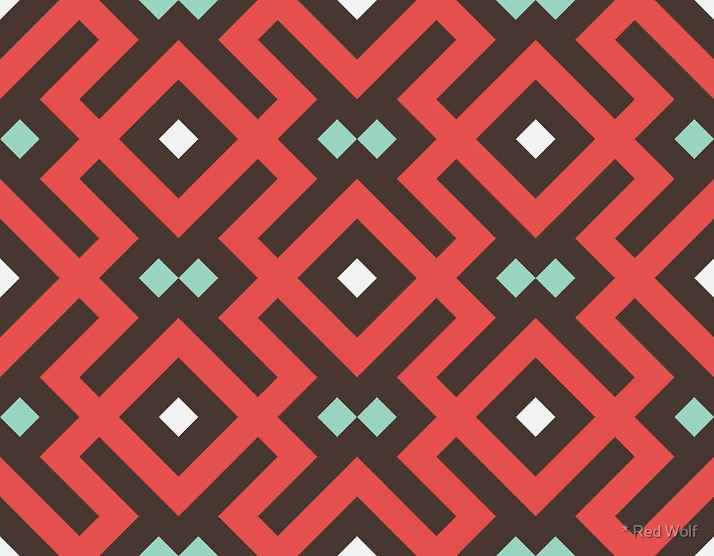 Geometric Pattern: Diamond Delta: Red by * Red Wolf