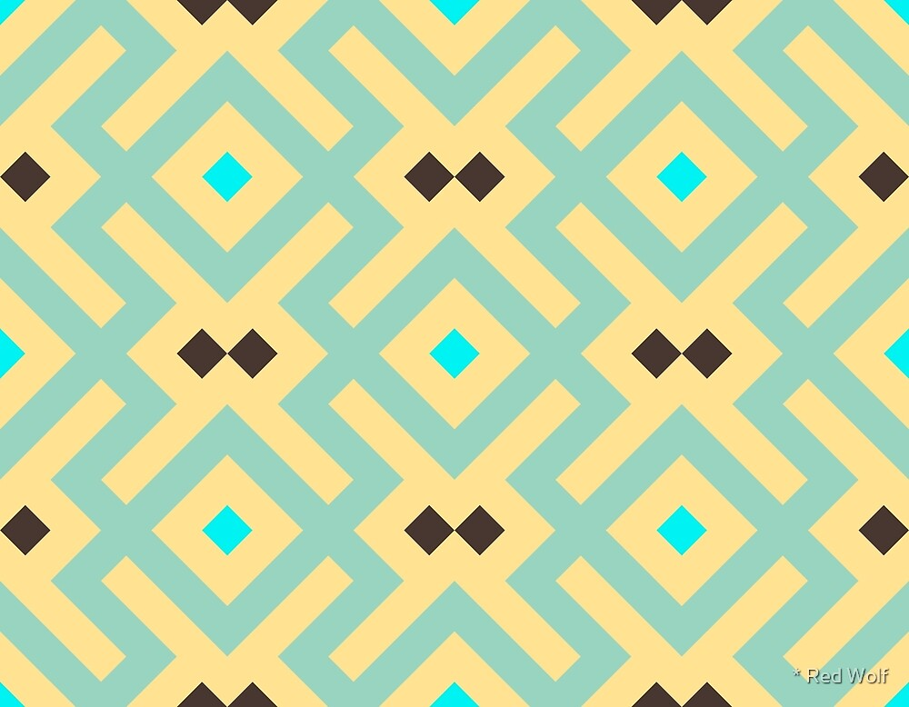Geometric Pattern: Diamond Delta: Yellow by * Red Wolf