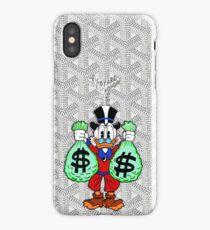 White Goyard Money iPhone Case