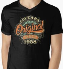 60 Years Original since 1958 - Birthday gift 60th for t-shirts cups and many more. Men's V-Neck T-Shirt