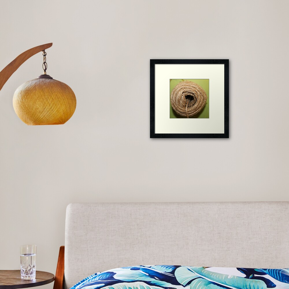 A coarse rope of natural material Framed Art Print