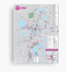 Orlando Public Transport Map - United States Canvas Print