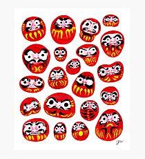 Japanese Daruma Characters Photographic Print