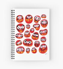 Japanese Daruma Characters Spiral Notebook