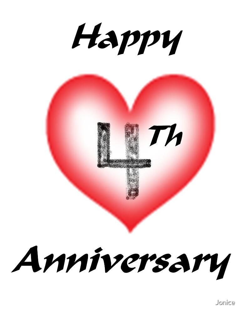 Happy 4Th Anniversary by Jonice