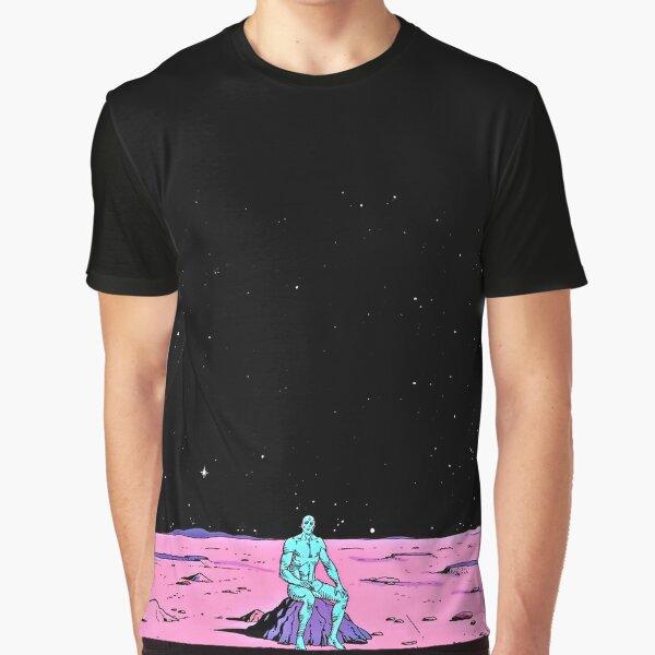 Dr. Manhattan sitting on mars (comic) Graphic T-Shirt