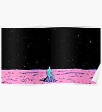 Dr. Manhattan sitting on mars (comic) Poster
