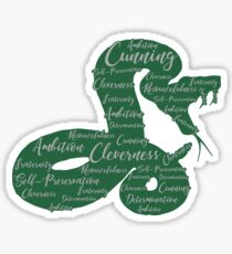 Cunning, Ambition, Cleverness Sticker