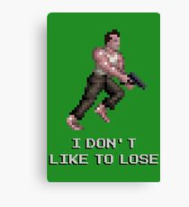 I Don't Like to Lose Canvas Print
