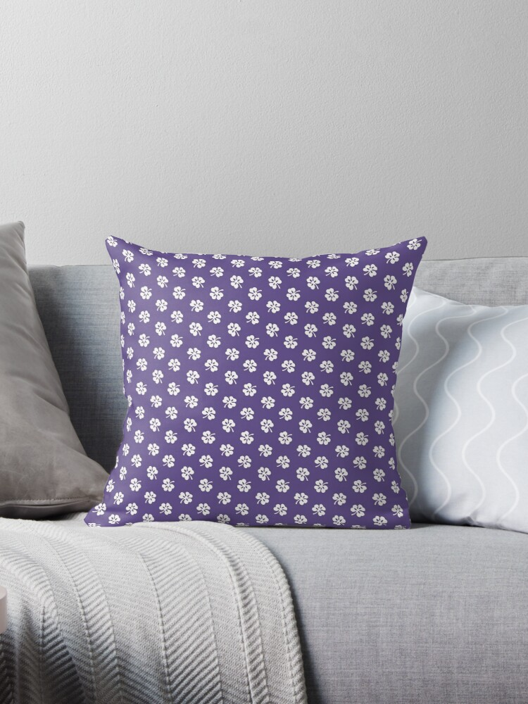 White Clover on Ultra Violet Retro Pattern by coverinlove