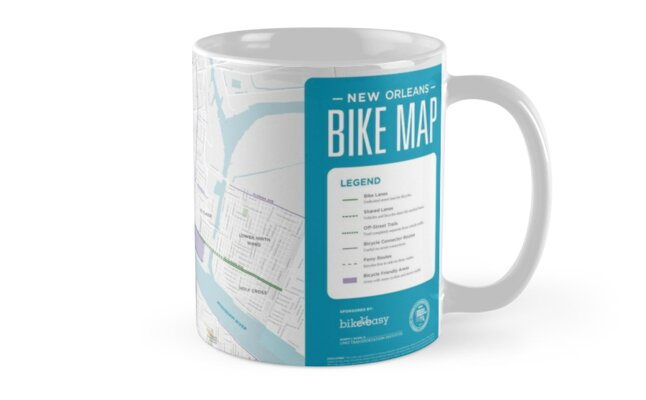 New Orleans Bike Map - United States\