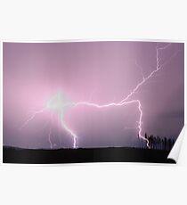 Lightning - Oberon NSW Poster