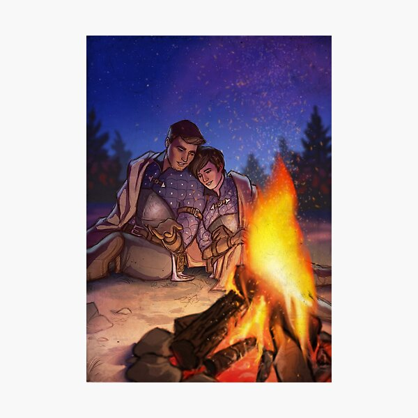 Campfire Stories Photographic Print