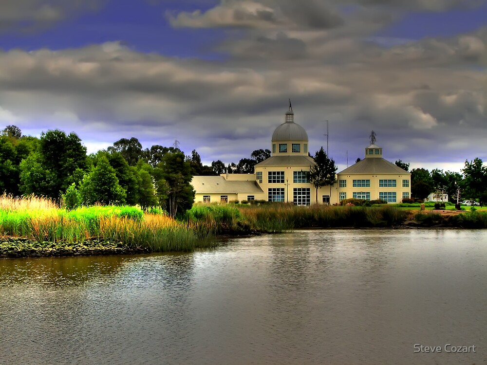 Town Hall on the Shore by Steve Cozart