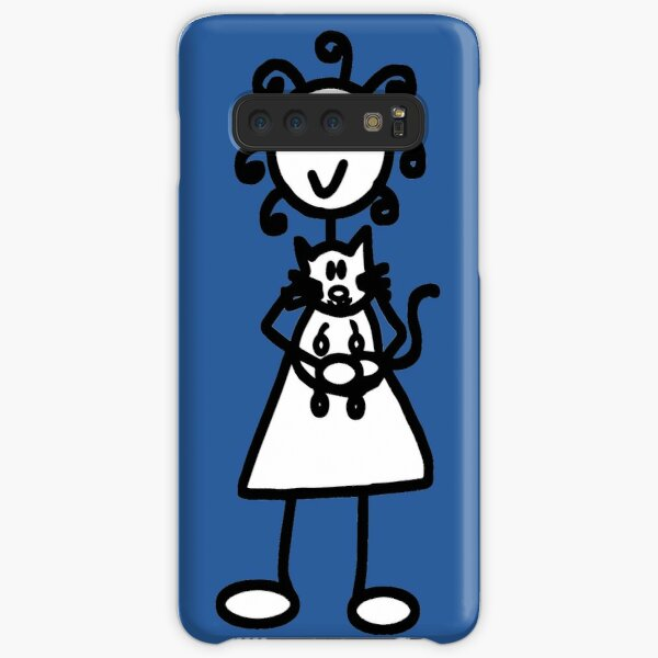 The girl with the curly hair - mid blue Samsung Galaxy Snap Case