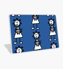 The girl with the curly hair - mid blue Laptop Skin