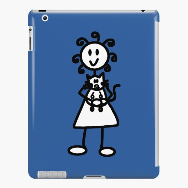 The girl with the curly hair - mid blue iPad Snap Case