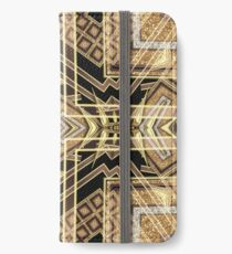 Black and Gold • Art Deco Fusion • Geometric iPhone Wallet/Case/Skin