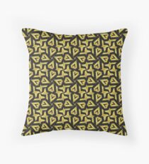 Edgy Gold Black Pattern Floor Pillow