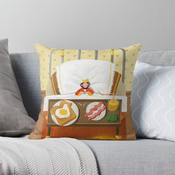 The Smallest King in the World Throw Pillow