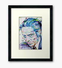 ALAN WATTS - watercolor portrait.7 Framed Print