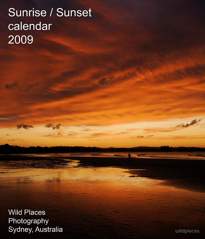 sunset calendar cover by wildplaces