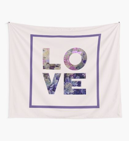 Succulent Uv LOVE #redbubble #love #ultraviolet Wall Tapestry