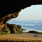The Front Door to the Cave - Caves Beach by Bev Woodman