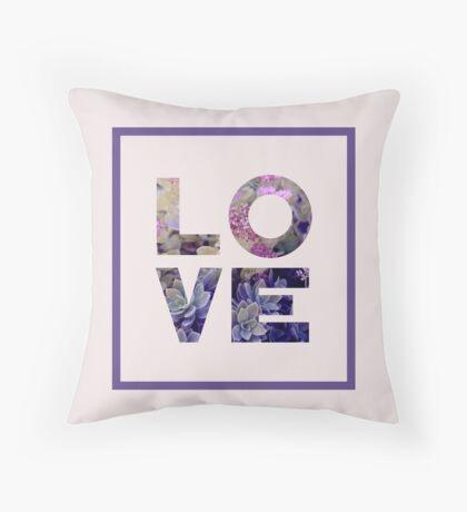 Succulent Uv LOVE #redbubble #love #ultraviolet Throw Pillow