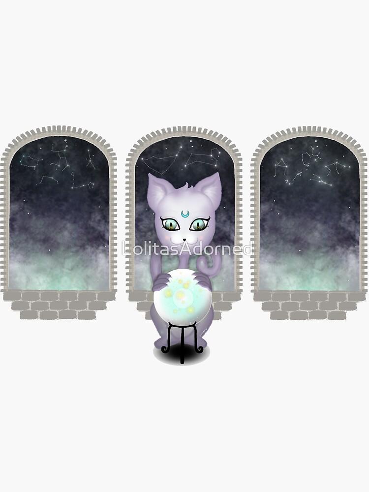Mystic Miku | Crystal Ball & Zodiac | Dark Purple by LolitasAdorned