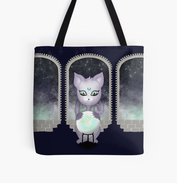 Mystic Miku   Crystal Ball & Zodiac   Navy All Over Print Tote Bag