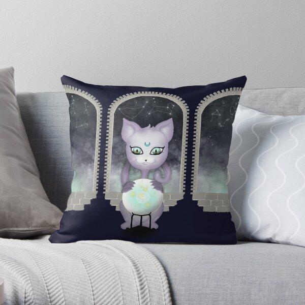Mystic Miku   Crystal Ball & Zodiac   Navy Throw Pillow
