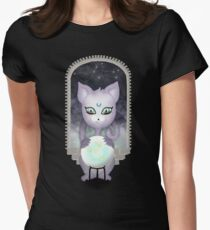 Mystic Miku   Crystal Ball & Zodiac   Black Fitted T-Shirt