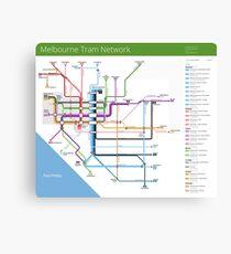 Melbourne Tram Network Map Canvas Print