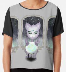 Mystic Miku | Crystal Ball & Zodiac | Light Grey Chiffon Top