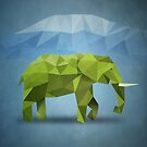 Polygon Elephant by jobe