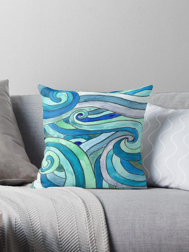 «Watercolour waves» de imaginadesigns