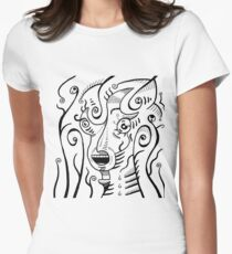 Psychedelic Animals - Scream Women's Fitted T-Shirt