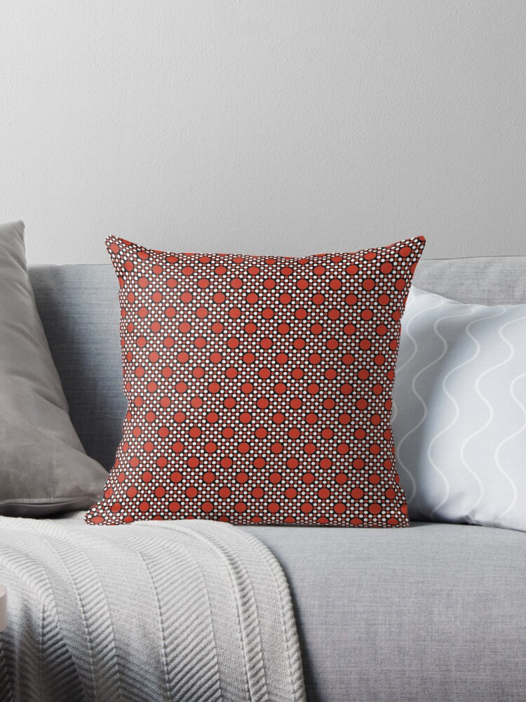 Burnt Orange Big and Little Dots Retro Pattern by coverinlove